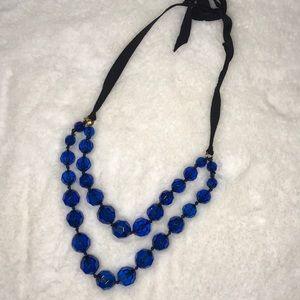 J crew necklace! Blue black gold